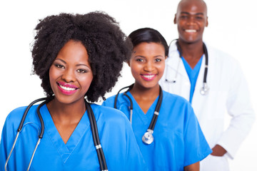 group of black healthcare workers