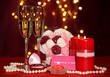 Composition Valentine's Day on lights background