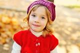 sweet girl in fall time