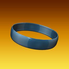 Bracelet 3D bleu azur