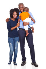 young African American couple with baby