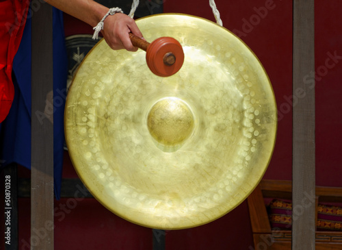Gong in a Buddhist monastery - 50870328