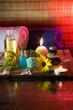 margherita, olio, pietre, sale e la candela