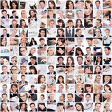 Large set of various business images poster