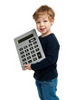 Cute Boy with Big Calculator