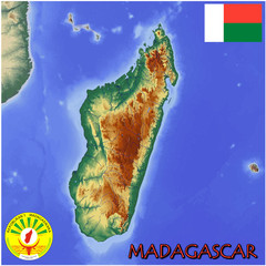 Madagascar Africa national emblem map symbol motto