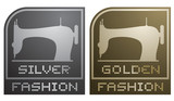 Silver and golden fashion emblem