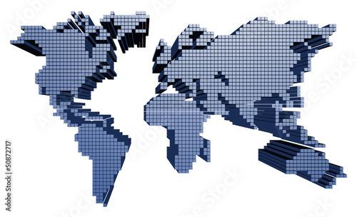 Staande foto Wereldkaart World surface