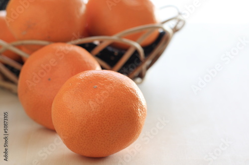 freshness mandarin orange from Japan for winter fruit image