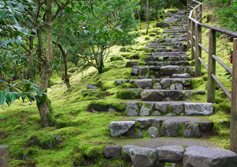 Asian Garden Stone staircase