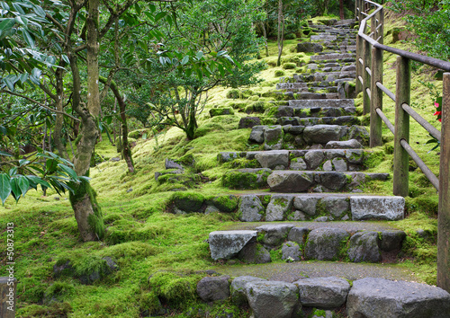 Asian Garden Stone staircase - 50873313