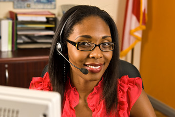 Beautiful African American Receptionist
