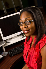 Beautiful African American Receptionist