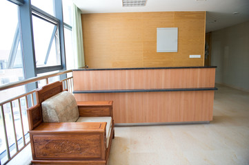 empty reception area
