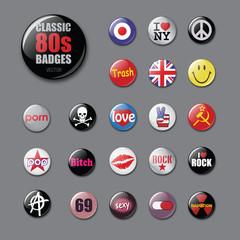 80s badges