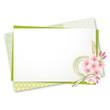 メッセージカード 桜 緑