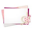 メッセージカード 桜 ピンク