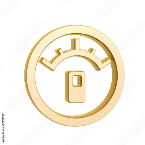 golden oil meter symbol