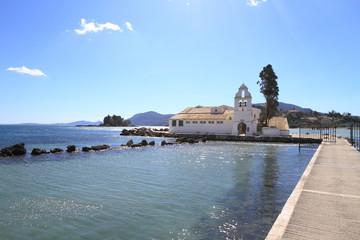 Vlacherna monastery and Pontikonisi island