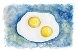 Heavenly flying fried eggs