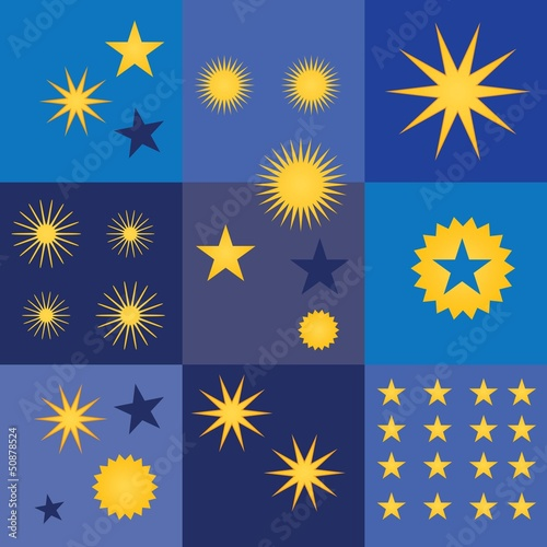 Stars icons and concepts