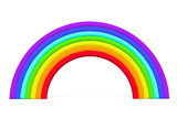 Colorful toy plasticine rainbow