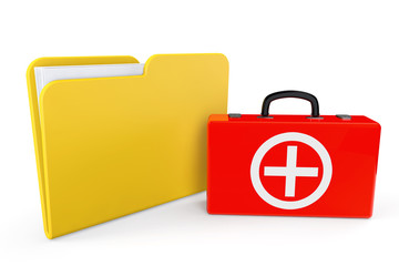 First Aid Case with Folder