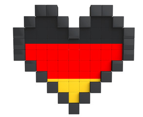 Pixel Heart as Germany Flag