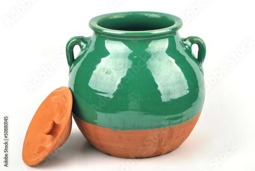 Glazed jar pottery