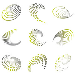 Motion symbol wave set