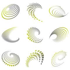 Motion symbol wave set
