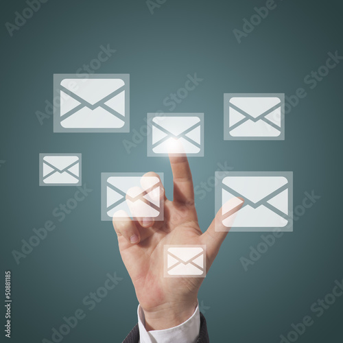 businessman open email