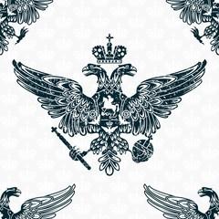 royal eagle seamless pattern