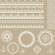 vector Lacy Ribbons, Napkins, and Design Elements