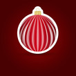 Christmas background. Sticker ball.