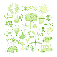 Vector graphics and icons ecology