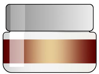 Ilustração - Frasco com tampa