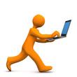 Manikin Laptop Run