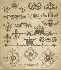Vector set. Vintage Elements for your design.