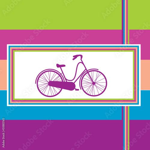 ilustracji wektorowych z rowerem