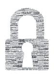 Hacker Concept - Locker Shaped Typographic Vector Word Cloud poster