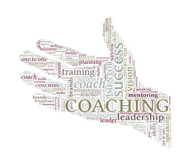 Helping Hand Vector Word Cloud - Coaching Concept