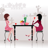 Girls in the cafe