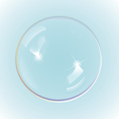 Rainbow soap bubbles, eps10 vector