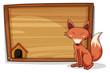 A fox beside an empty board