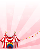 A stationery with a circus tent design