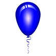Vector illustration of blue balloon