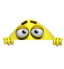 3d cartoon cute yellow monster