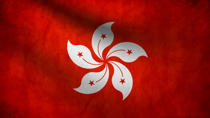 Hong Kong flag.