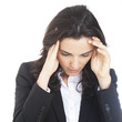 Geschaeftsfrau gestresst